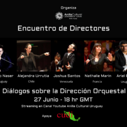 Directores de orquesta tocando instrumentos