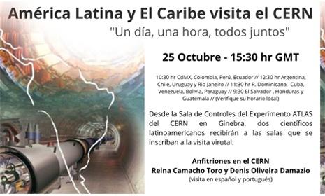 Afiche America latina y el Caribe visita Cern